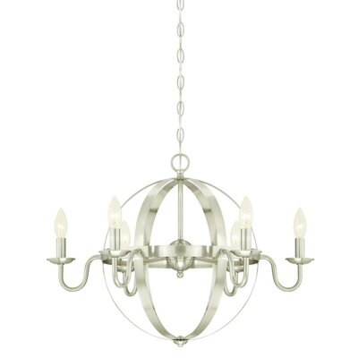 Brixton 6-Light Candle-Style Chandelier Finish: Brushed Nickel