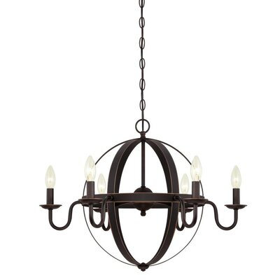 Brixton 6-Light Candle-Style Chandelier Finish: Oil Rubbed Bronze