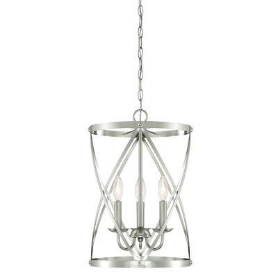 Isadora 3-Light Foyer Pendant Finish: Brushed Nickel