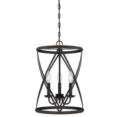 Isadora 3-Light Foyer Pendant Finish: Oil Rubbed Bronze
