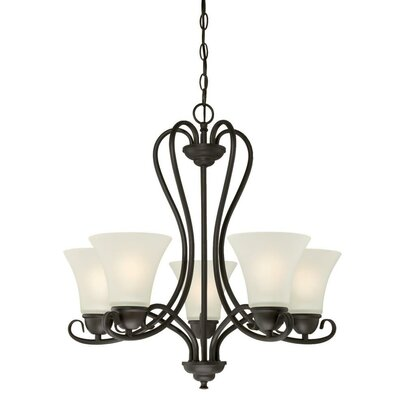 Dunmore 5-Light Shaded Chandelier