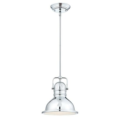 Maleah 1-Light LED Mini Pendant Color: Chrome, Size: 43.54 H x 10.63 W x 10.63 D