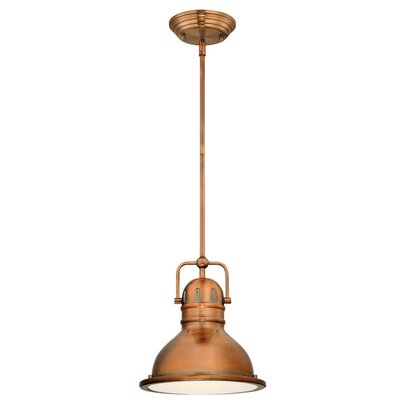 Boswell 1-Light Mini Pendant Finish: Washed Copper, Size: 43.54 H x 10.63 W x 10.63 D