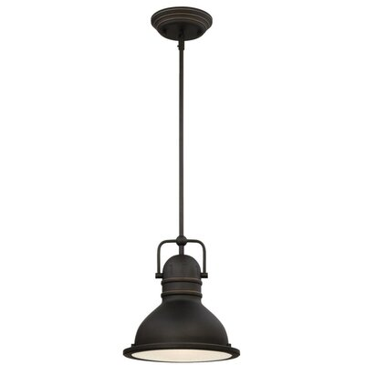 Boswell 1-Light Mini Pendant Size: 43.54 H x 10.63 W x 10.63 D, Bulb Type: 11W OMNI A-19 LED
