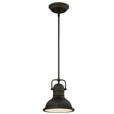 Maleah 1-Light Mini Pendant Size: 41.34 H x 8.75 W x 8.75 D, Bulb Type: 11W OMNI A-19 LED