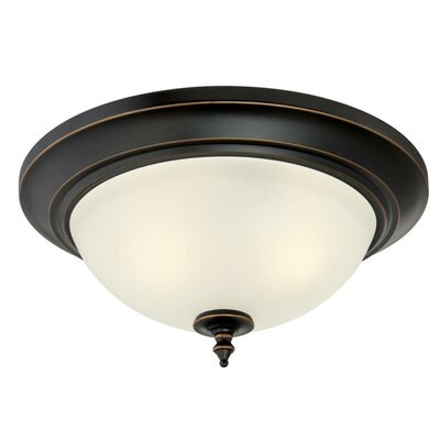 Harwell 2-Light Flush Mount Finish: Amber Bronze