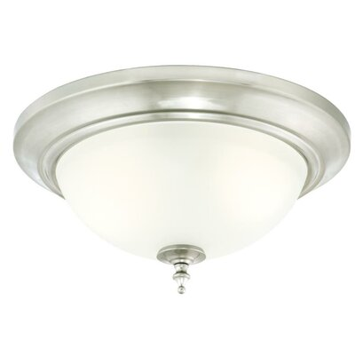 Harwell 2-Light Flush Mount Finish: Brushed Nickel
