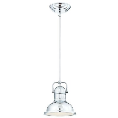Boswell 1-Light Mini Pendant Finish: Chrome, Size: 43.54 H x 10.63 W x 10.63 D
