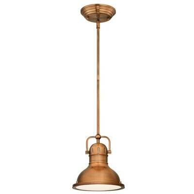 Boswell 1-Light Mini Pendant Size: 41.34 H x 8.75 W x 8.75 D, Finish: Washed Copper
