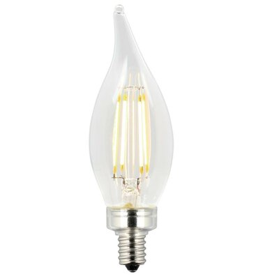 Candelabra Base CA11 LED Light Bulb Wattage: 25