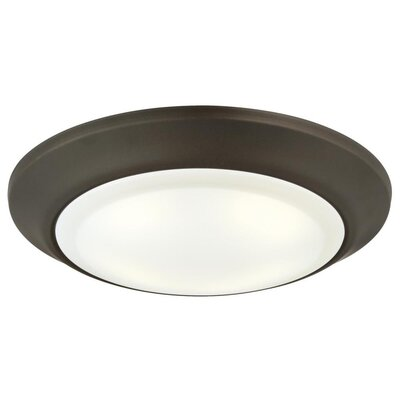 1-Light LED Flush Mount Finish: Oil Rubbed Bronze