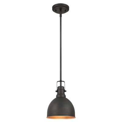 1-Light Mini Pendant Finish: Oil Rubbed Bronze