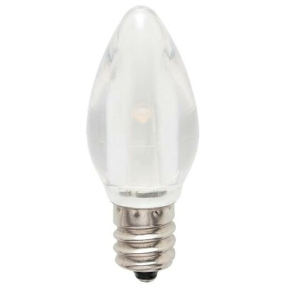 1W E12/Candelabra LED Light Bulb (Set of 2)