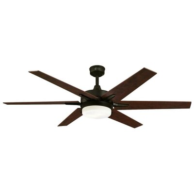 60 Cayuga 6 Blade Ceiling Fan with Remote Finish: Oil Rubbed Bronze with Applewood/Cherry Blades