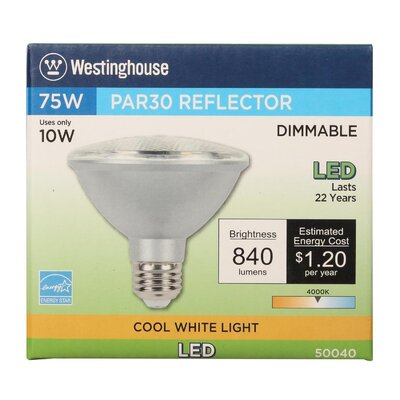 10W E26 Medium Base LED Light Bulb Bulb Temperature: 4000K