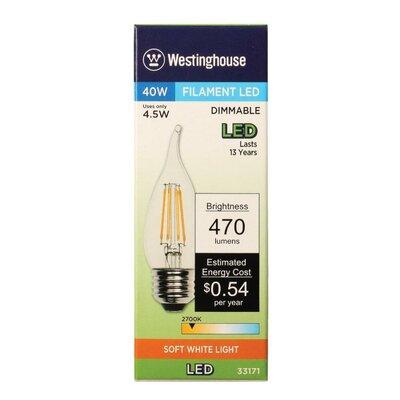 4.5W E26 Medium Base LED Light Bulb