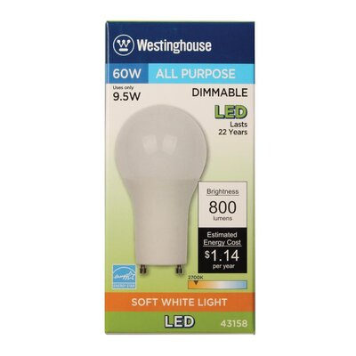 9.5W GU24 Base LED Light Bulb