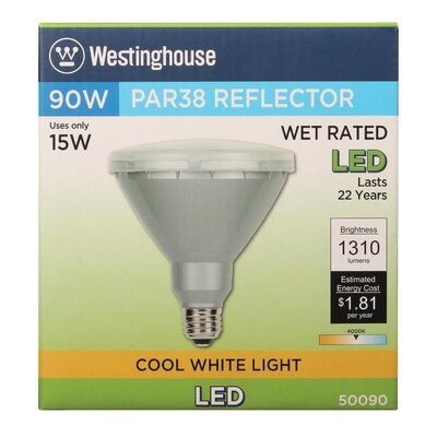 15W E26 Medium Base LED Light Bulb Bulb Temperature: 4000K