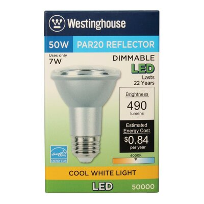 7W E26 Medium LED Light Bulb Bulb Temperature: 4000K
