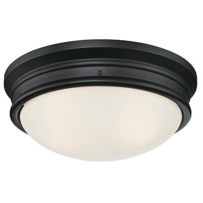Burtundy 2-Light Flush Mount