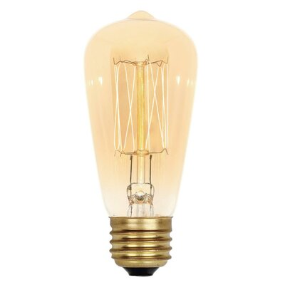 40W Amber ST15 Light Bulb (Set of 6)