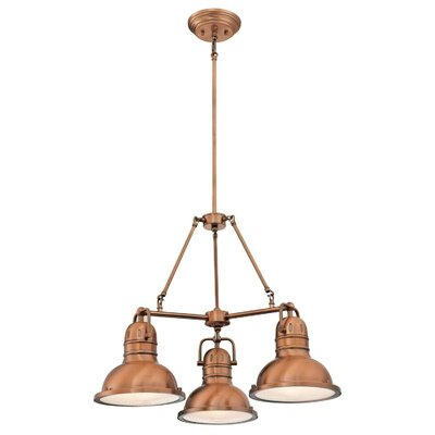 Maleah Indoor 3-Light Chandelier Finish: Washed Copper