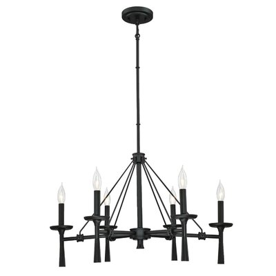 Burtundy Indoor 6-Light Candle-Style Chandelier