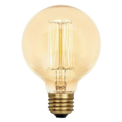 Amber G25 Light Bulb (Set of 6) Wattage: 40W