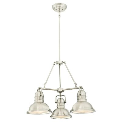 Maleah Indoor 3-Light Chandelier Finish: Brushed Nickel
