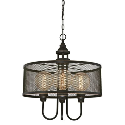 Ivaan Indoor 4-Light Drum Chandelier