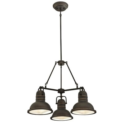 Maleah Indoor 3-Light Chandelier Finish: Oil Rubbed Bronze