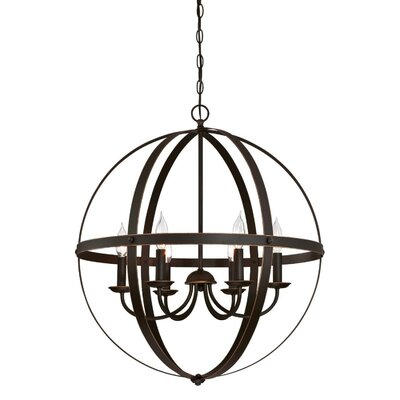 Burtville Indoor 6-Light Candle- Style Chandelier Finish: Oil Rubbed Bronze