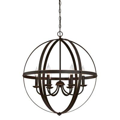 Burtville Indoor 6-Light Candle- Style Chandelier Finish: Oil Rubbed Bronze