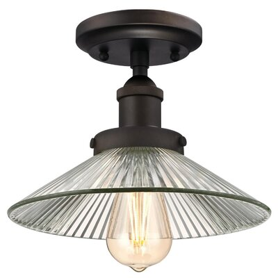 Charlotte 1-Light Semi Flush Mount