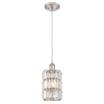 Baxley 1-Light Mini Pendant Finish: Brushed Nickel