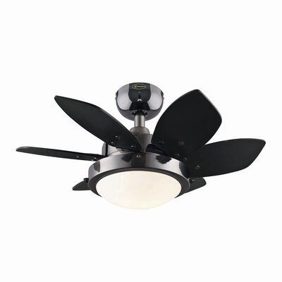 24 Quince 6-Blade Ceiling Fan Finish: Gun Metal with Black/Graphite Blades