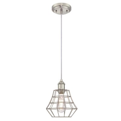 Trinh 1-Light Mini Pendant Finish: Matte Black, Size: 60.51 H x 7.48 W x 7.48 D
