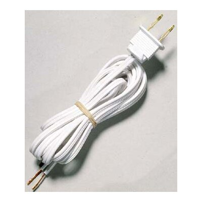 Light Fixture Cord Set Finish: White