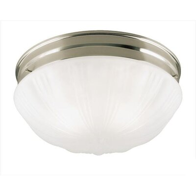 Flush Mount (Set of 2) Finish: Brushed Nickel With Pull Chain