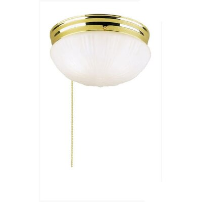 Flush Mount (Set of 2) Finish: Polished Brass With Pull Chain