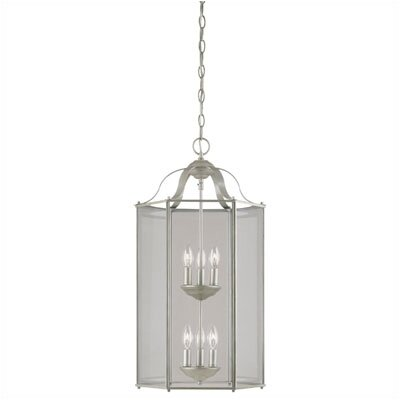 Six Light Chandelier in Pewter Patina