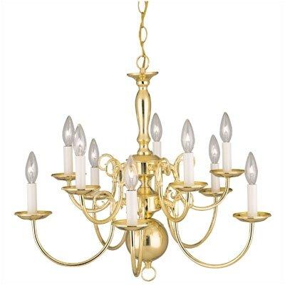 Williamsburg Style 10 Light Chandelier