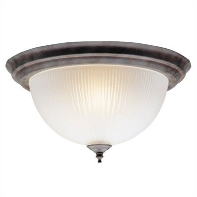 2 Light Dome Flush Mount (Set of 2)
