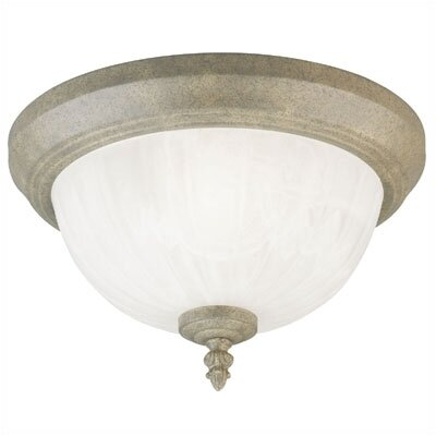 1-Light Flush Mount - Frosted Alabaster Glass (Set of 2)