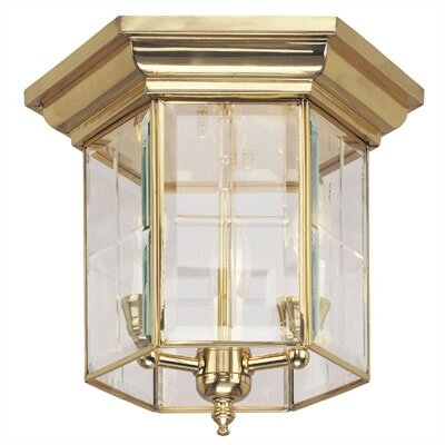 Flush Mount in Polished Brass