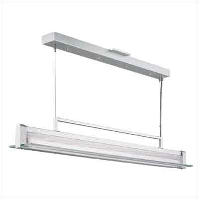 Clear and Frosted Glass Panel with Perforated Metal Reflector 34 Shade Kit