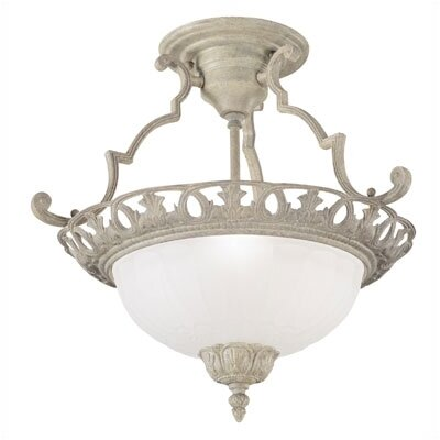 Revival Three Semi Flush Mount in Cobblestone
