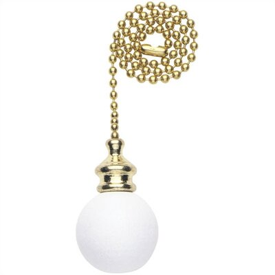 White Wood Ball Ceiling Fan Pull Chain (Set of 17)