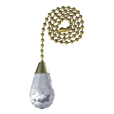 Acrylic Teardrop Ceiling Fan Pull Chain (Set of 10)