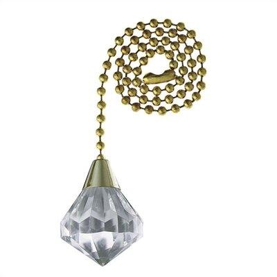 Acrylic Diamond Ceiling Fan Pull Chain (Set of 10)